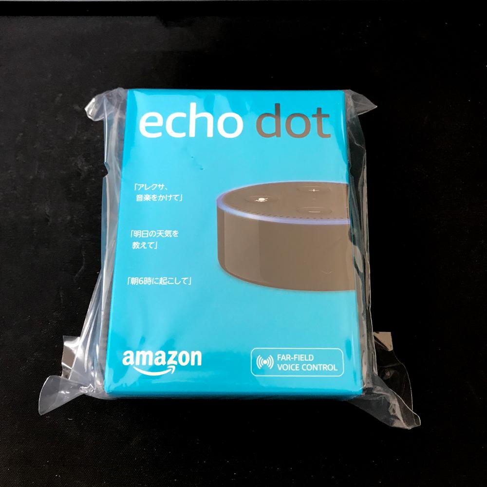 【レビュー予定】Amazon Echo Dotかってみた。
