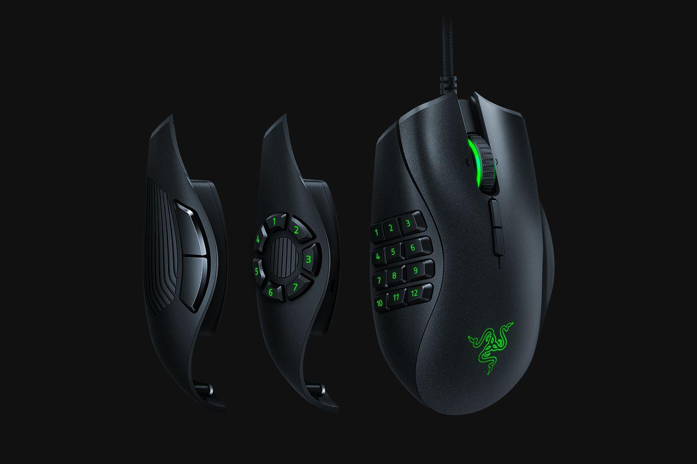 Razer サイドボタンを変えられるMMO マウス 『NAGA TRINITY』