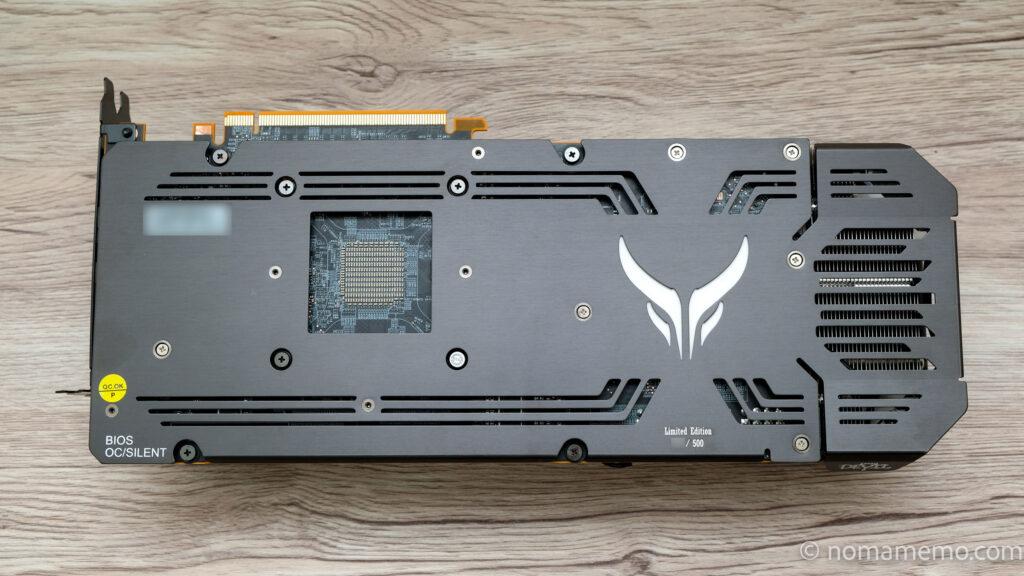 PowerColor Red Devil Radeon RX6900XT 裏面